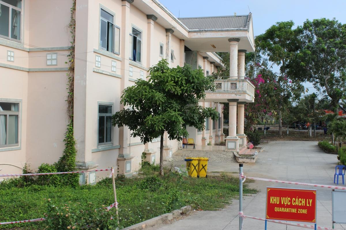 Khu vực cách ly tập trung Phòng khám Đa khoa Quân dân y Giồng Găng, huyện Tân Hồng, tỉnh Đồng Tháp.