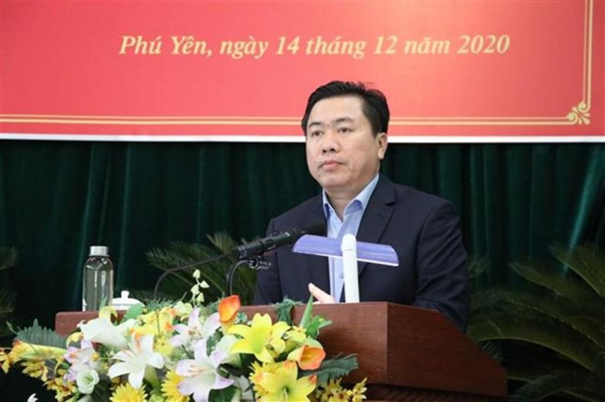 Chủ tịch Ủy ban Nhân dân tỉnh Phú Yên Trần Hữu Thế. (Ảnh: Phạm Cường/TTXVN)