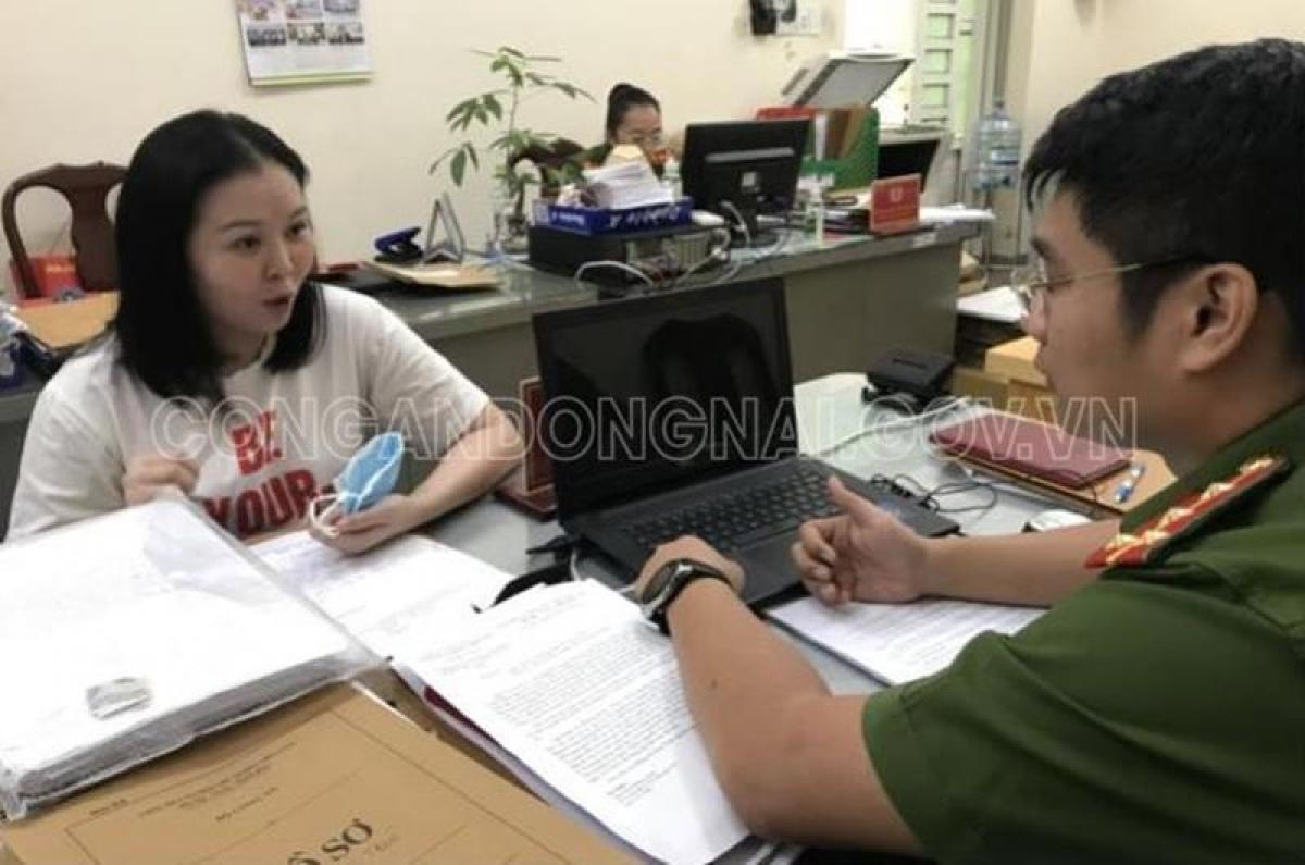 Đối tượng Nguyễn Ngọc Nga khai nhận hành vi phạm tội trước cơ quan công an