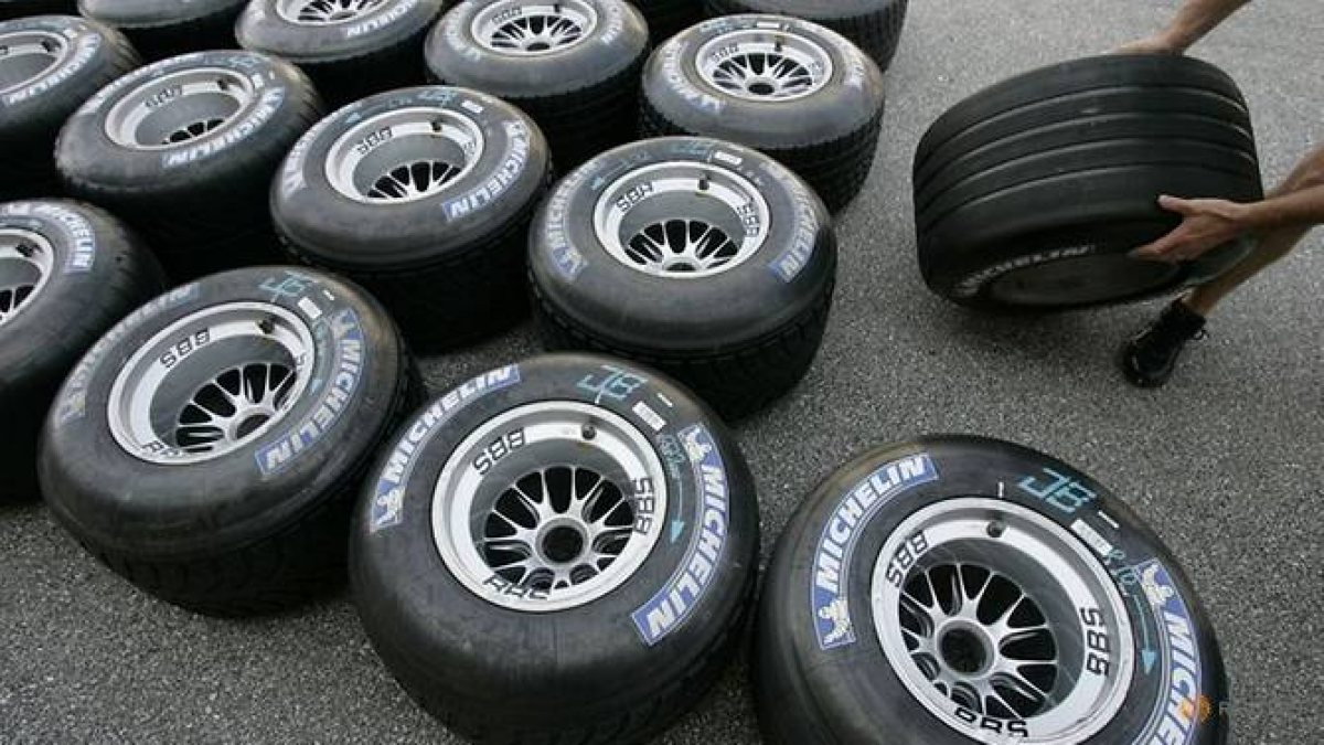 Mặt hàng lốp xe của 4 quốc gia và khu vực bị áp đặt thuế của Mỹ. (Ảnh: CNA)