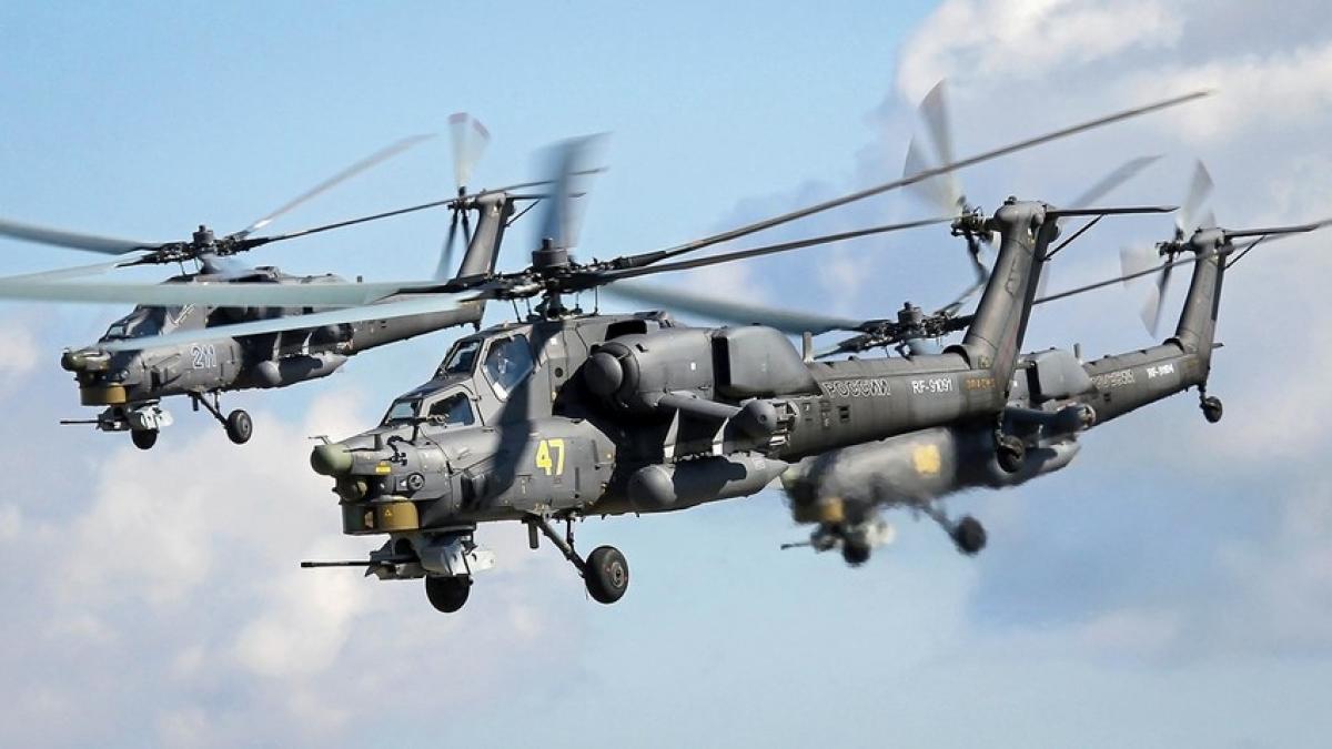 Trực thăng chiến đấu Mi-28NM. Ảnh: RBTH