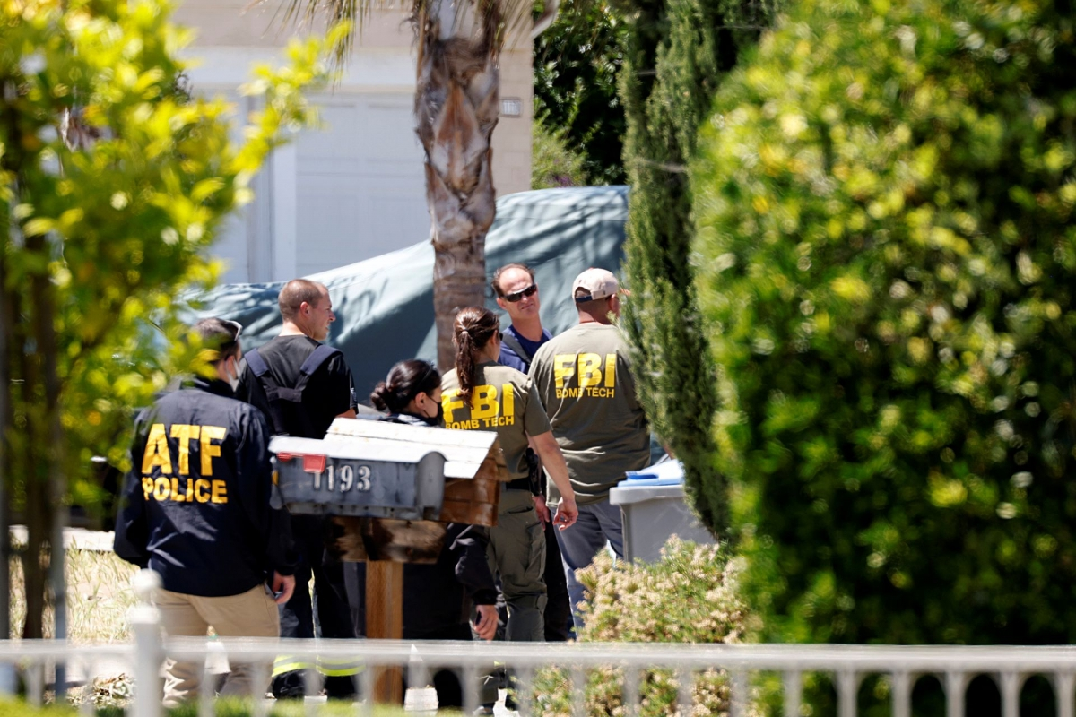 Hiện trường một vụ xả súng ở San Jose, California, Mỹ ngày 26/5. Ảnh: Reuters