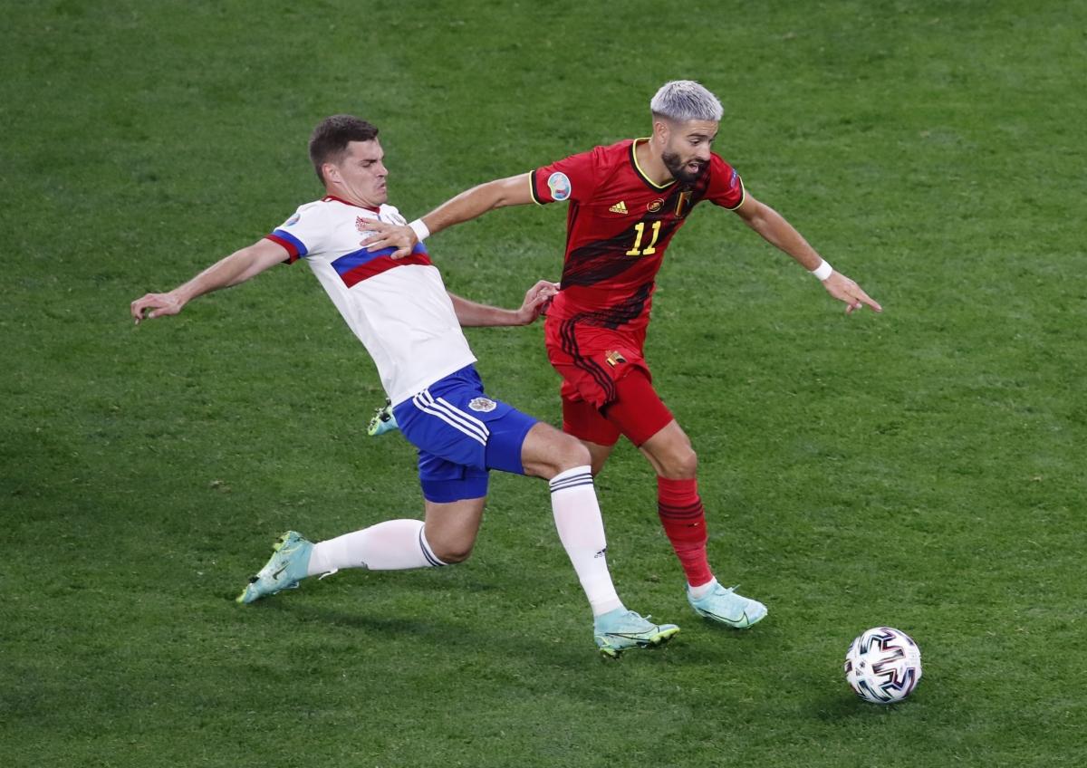 Dẫn trước 2 bàn dễ dàng, ĐT Bỉ thi đấu ung dung trong hiệp 2 nhưng vẫn giữ được sự chắc chắn bên phần sân nhà.