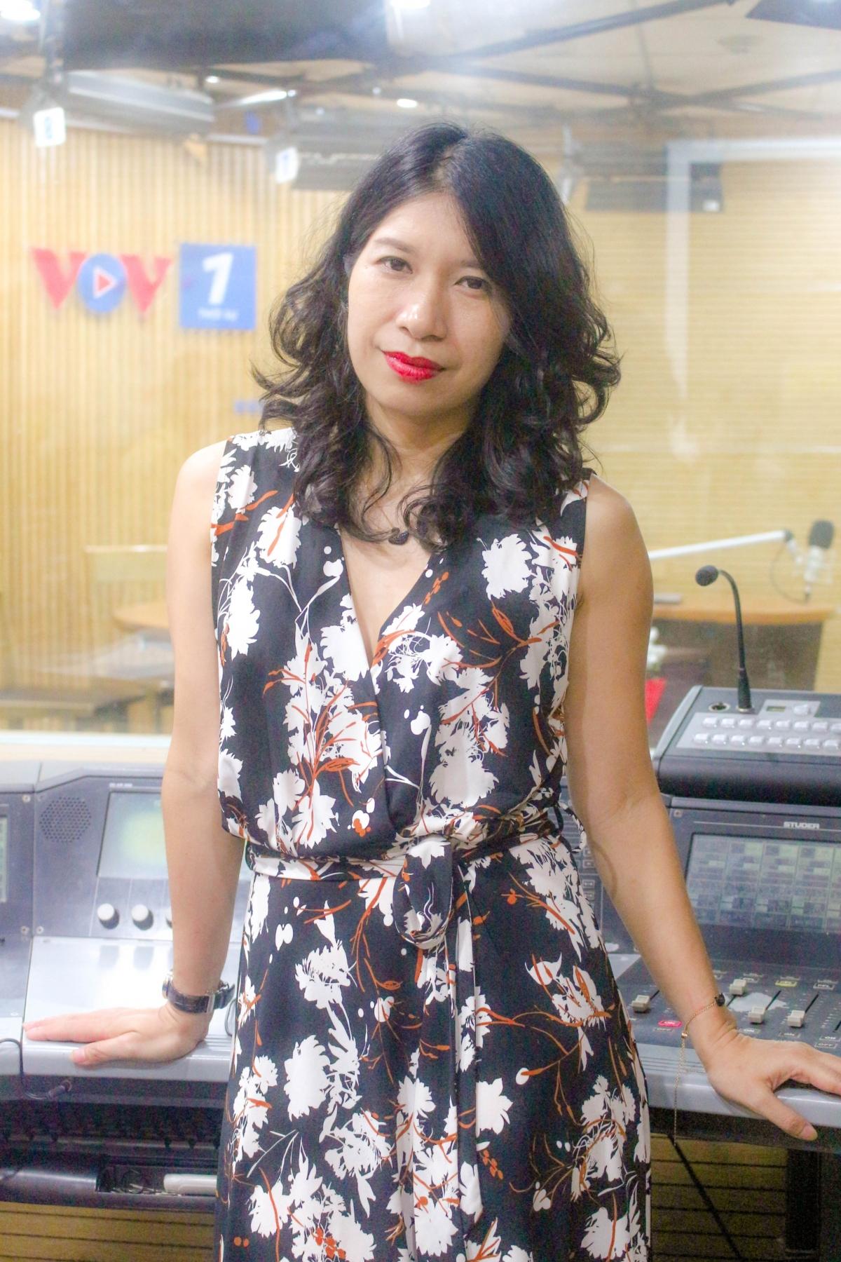 Nhà báo Thúy Ngọc - Ban Thời sự (Ảnh: Nguyễn Hà)