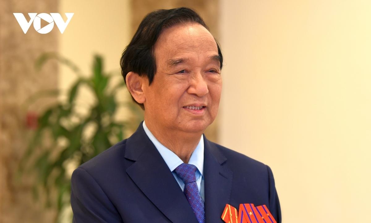 Ông Nguyễn Lân Dũng - Đại biểu Quốc hội khóa X, XI, XII. (Ảnh: Trần Khánh)