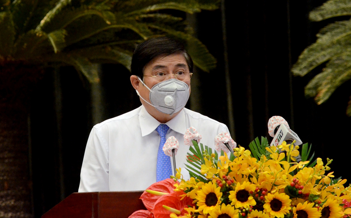Chủ tịch UBND TP.HCM Nguyễn Thành Phong. (Ảnh: Hà An)
