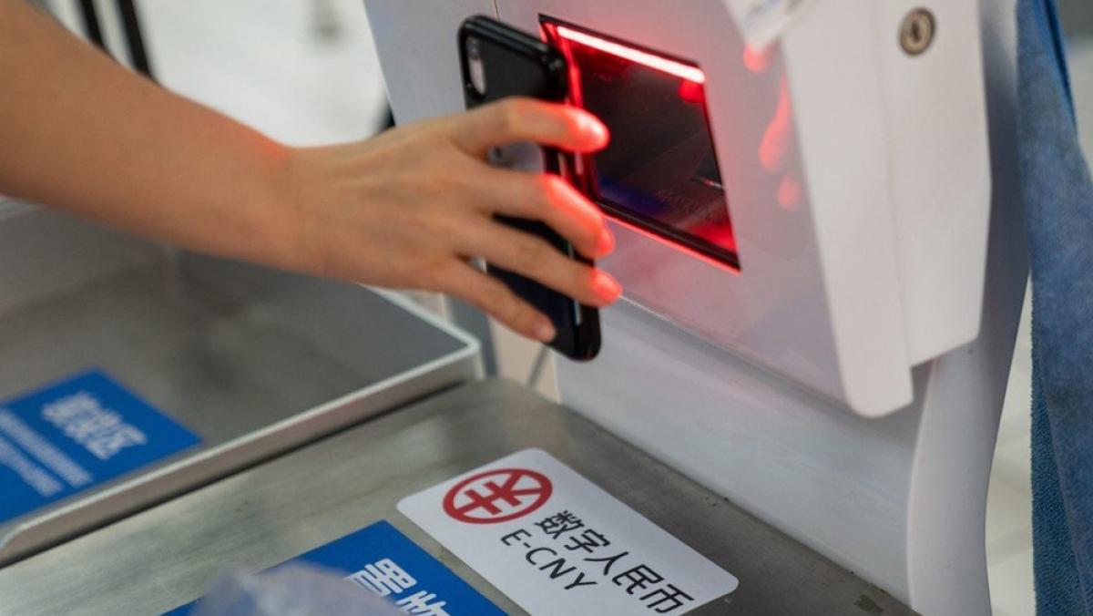 Đồng nhân dân tệ điện tử được sử dụng trong thanh toán xuyên biên giới. (Ảnh minh họa: SCMP)