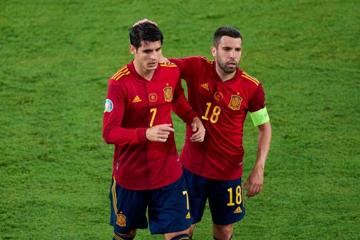 Morata đã phung phí cơ hội ở trận đấu đầu tiên của Tây Ban Nha tại EURO 2021 (Ảnh: Getty).
