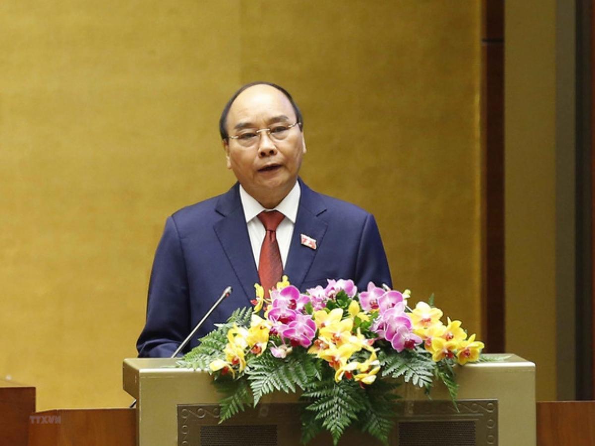 Chủ tịch nước Nguyễn Xuân Phúc gửi lời chúc mừng đến toàn thể các thế hệ những người làm báo cả nước. Ảnh: TTXVN.