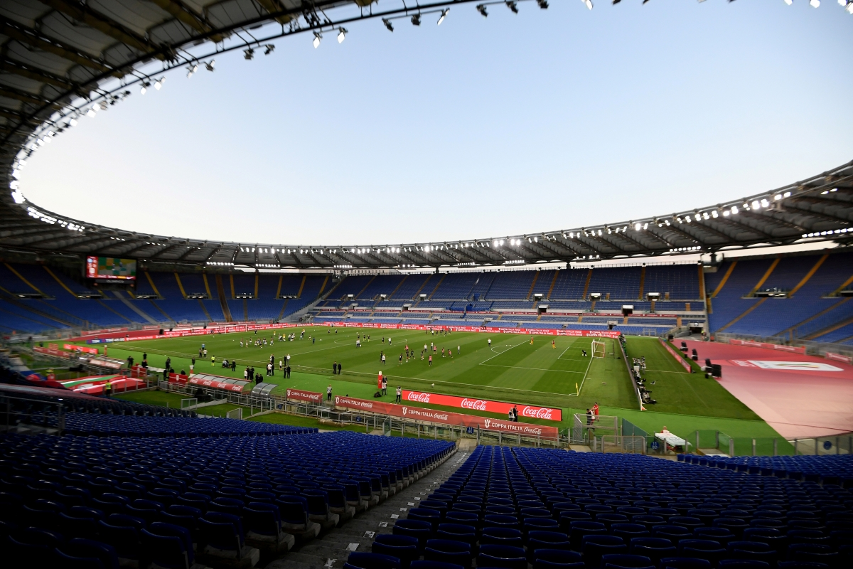 Sân Olimpico ở Rome (Italia), một trong những sân đấu sẽ đăng cai các trận bảng A EURO 2021. (Ảnh: Reuters).