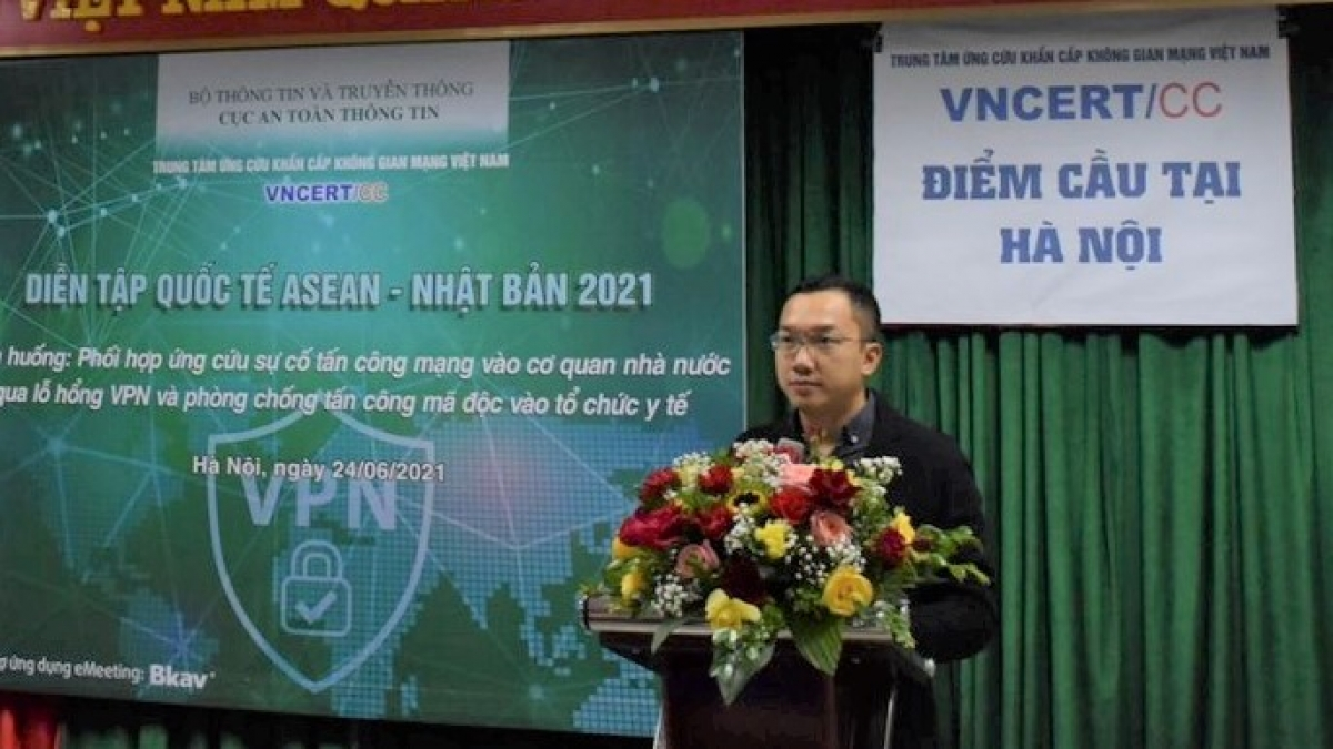 Ông Hoàng Minh Tiến, Phó Cục trưởng Cục ATTT, Bộ TT&TT