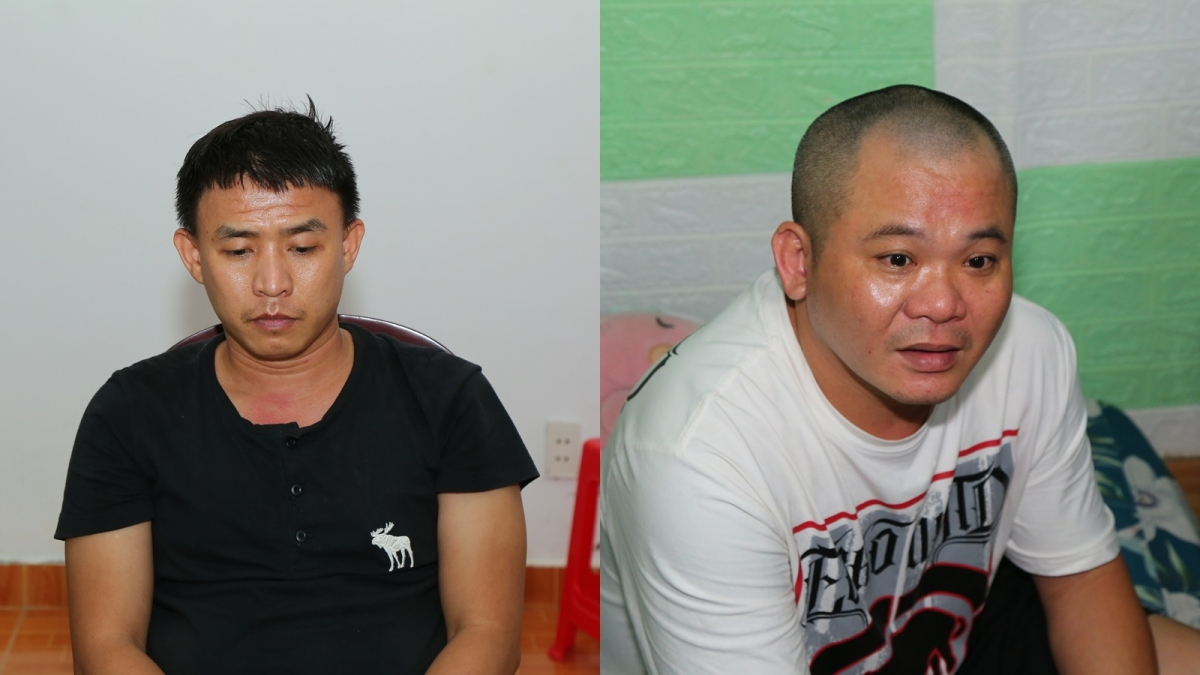 Đối tượng Trương Minh Đạt (ảnh trái) vàTrần Thanh Tùng.
