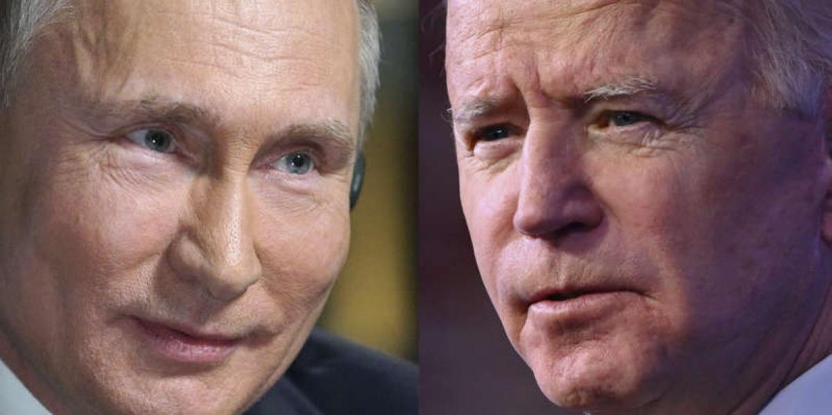 Tổng thống Nga Putin và Tổng thống Mỹ Biden. Ảnh: Getty