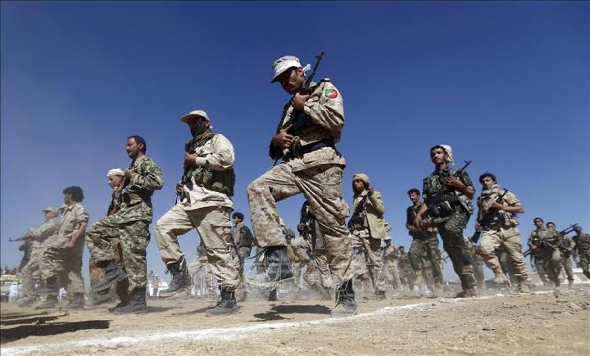 Phiến quân Houthi tại Sanaa, Yemen. Ảnh: AFP.