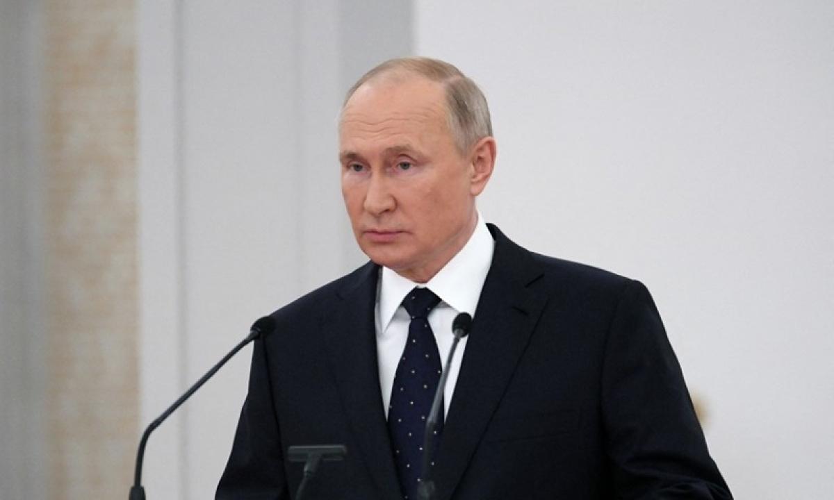 Tổng thống Vladimir Putin phát biểu tại Hạ viện hôm 21/6. Ảnh:AFP