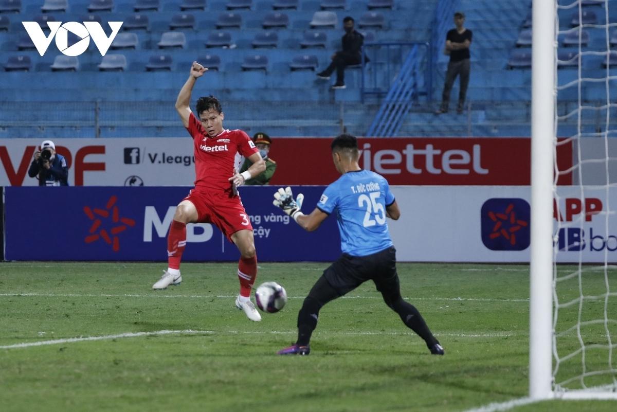 Quế Ngọc Hải cùng các đồng đội ở Viettel hứa hẹn sẽ có những trận đấu không đơn giản với Kaya FC của Philippines. (Ảnh: Minh Hoàng).