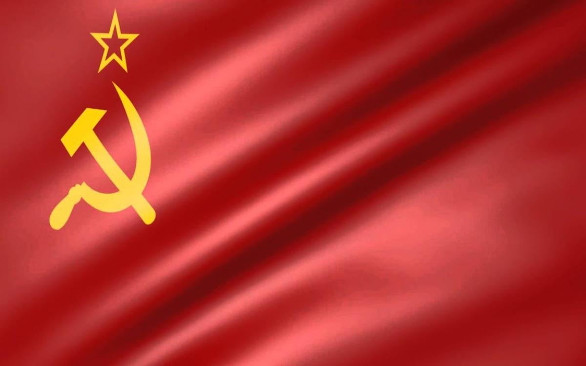 Quốc kỳ Liên Xô. Ảnh: Arachnid.