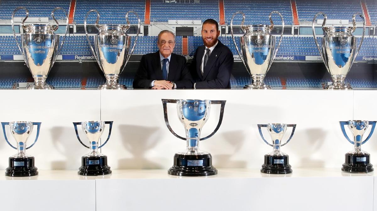 Chủ tịch Florentino Perez tri ân Sergio Ramos và khẳng định Real Madrid luôn là nhà của trung vệ này. (Ảnh: Marca)