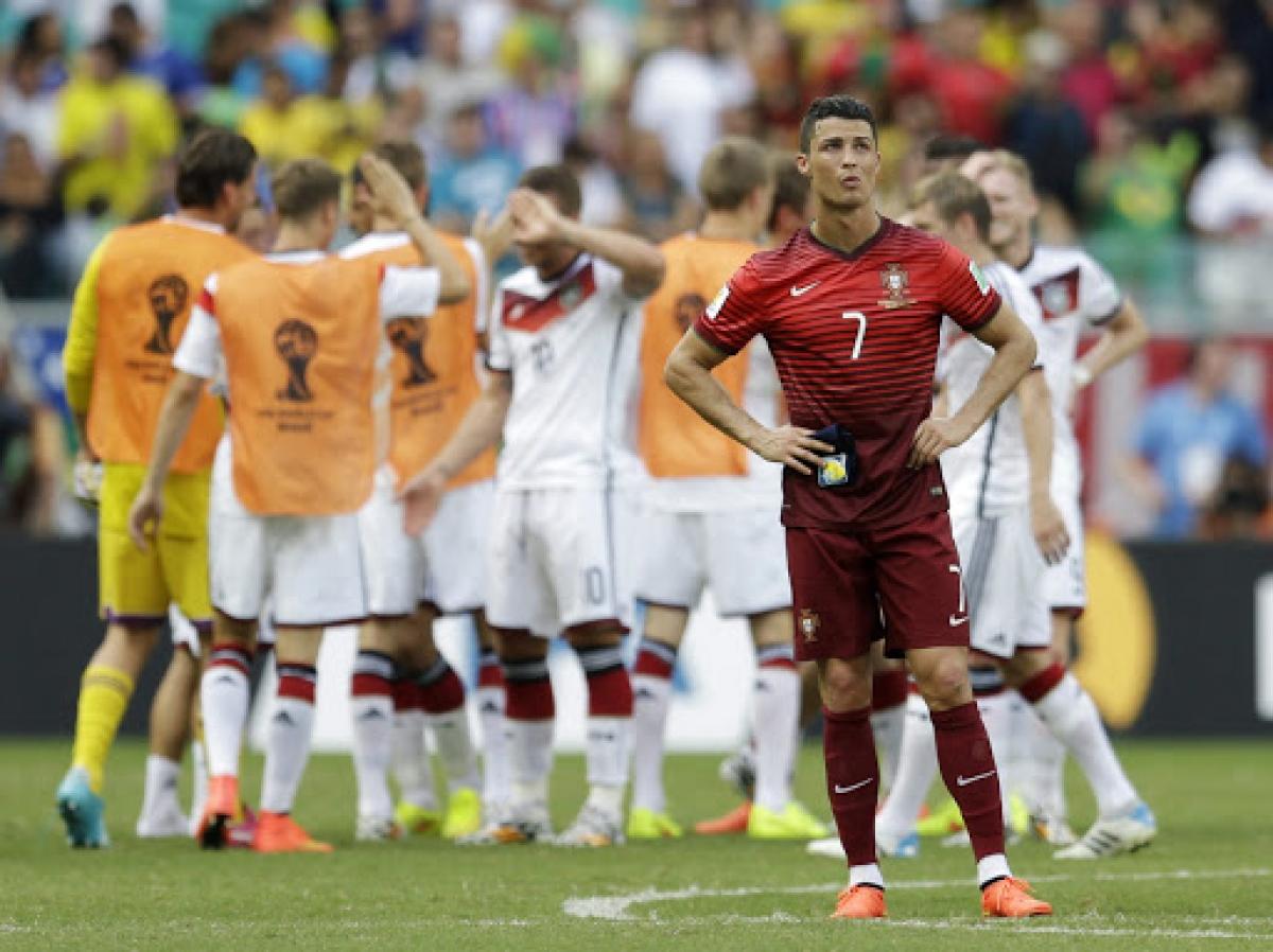"""Ronaldo từng 4 lần """"ôm hận"""" trước tuyển Đức ở các giải đấu lớn. (Ảnh: Getty)"""