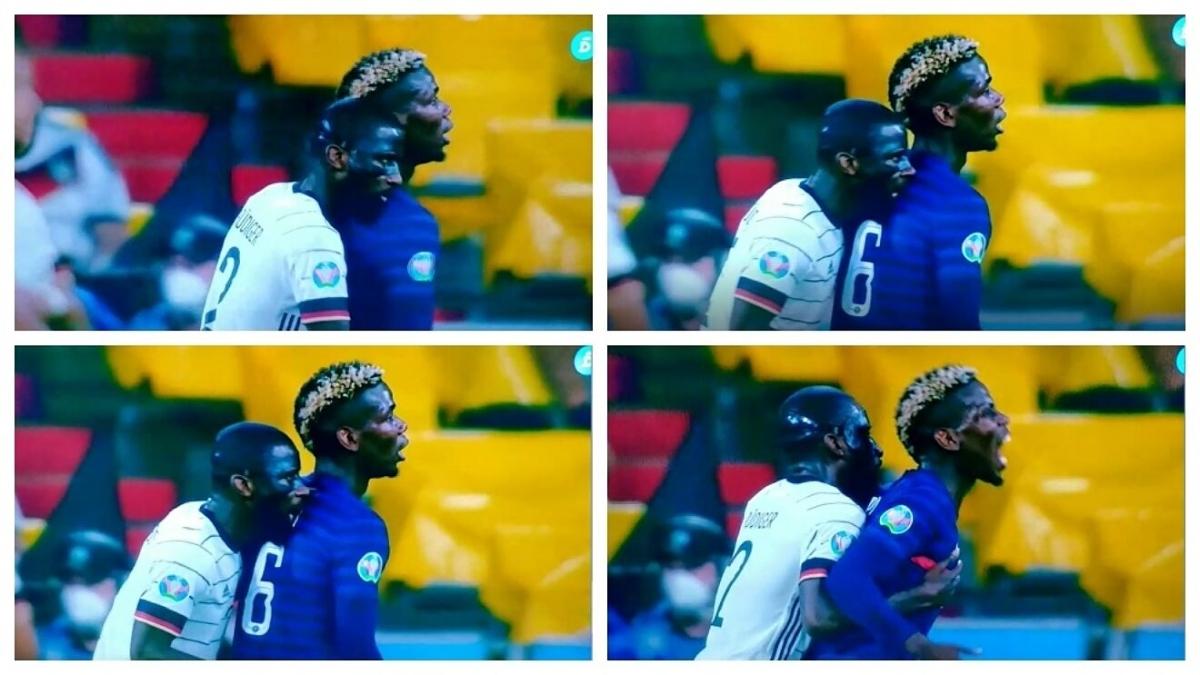 Rudiger thoát án phạt sau khi cắn Pogba. (Ảnh: Marca)