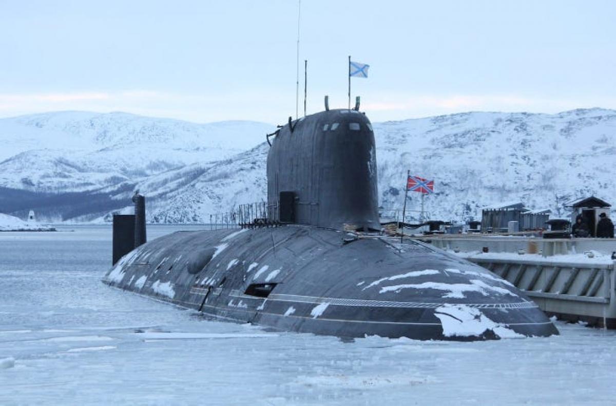 Tàu ngầm K-560 Severodvinsk của Nga. Ảnh: Bộ Quốc phòng Nga