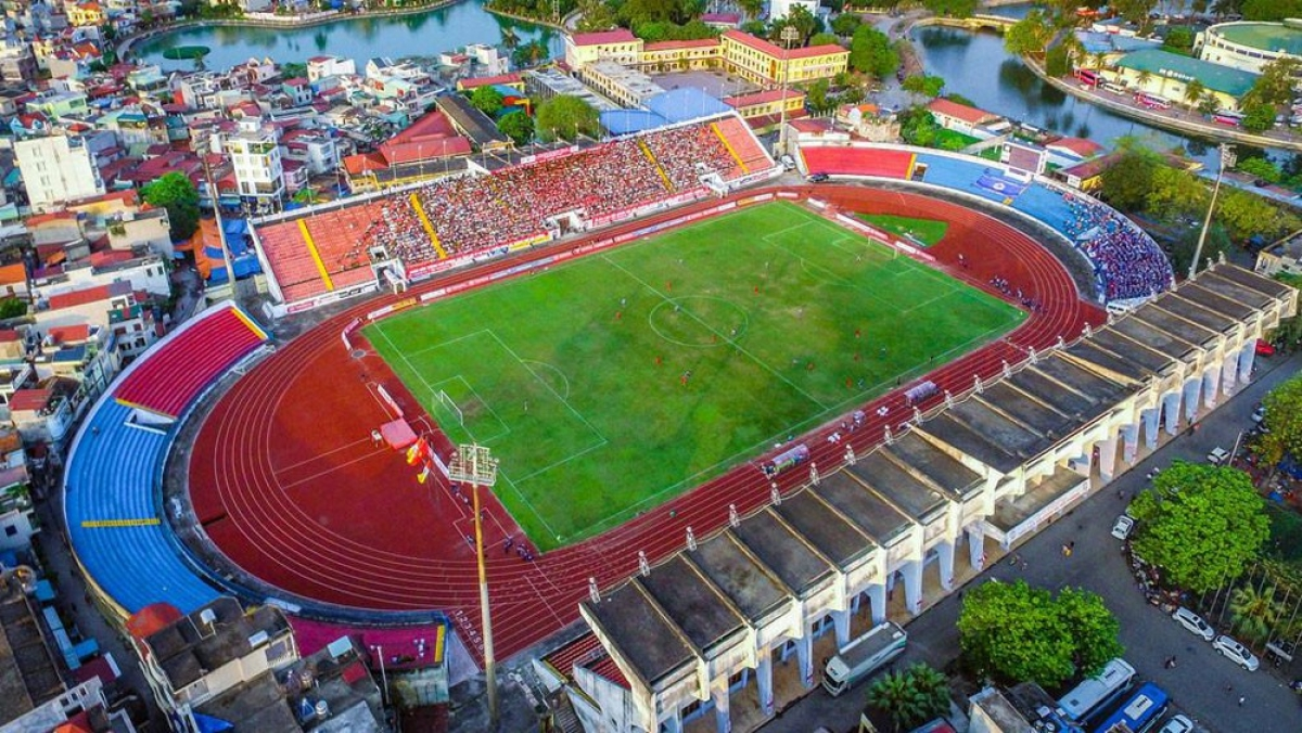Lay Tray stadium in Hai Phong city is scheduled to play host to a number of football matches of the 31st SEA Games. (Photo: Minh Tu)