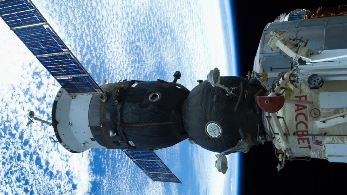 Tàu vũ trụ Soyuz MS-14 của Nga. Ảnh: RT