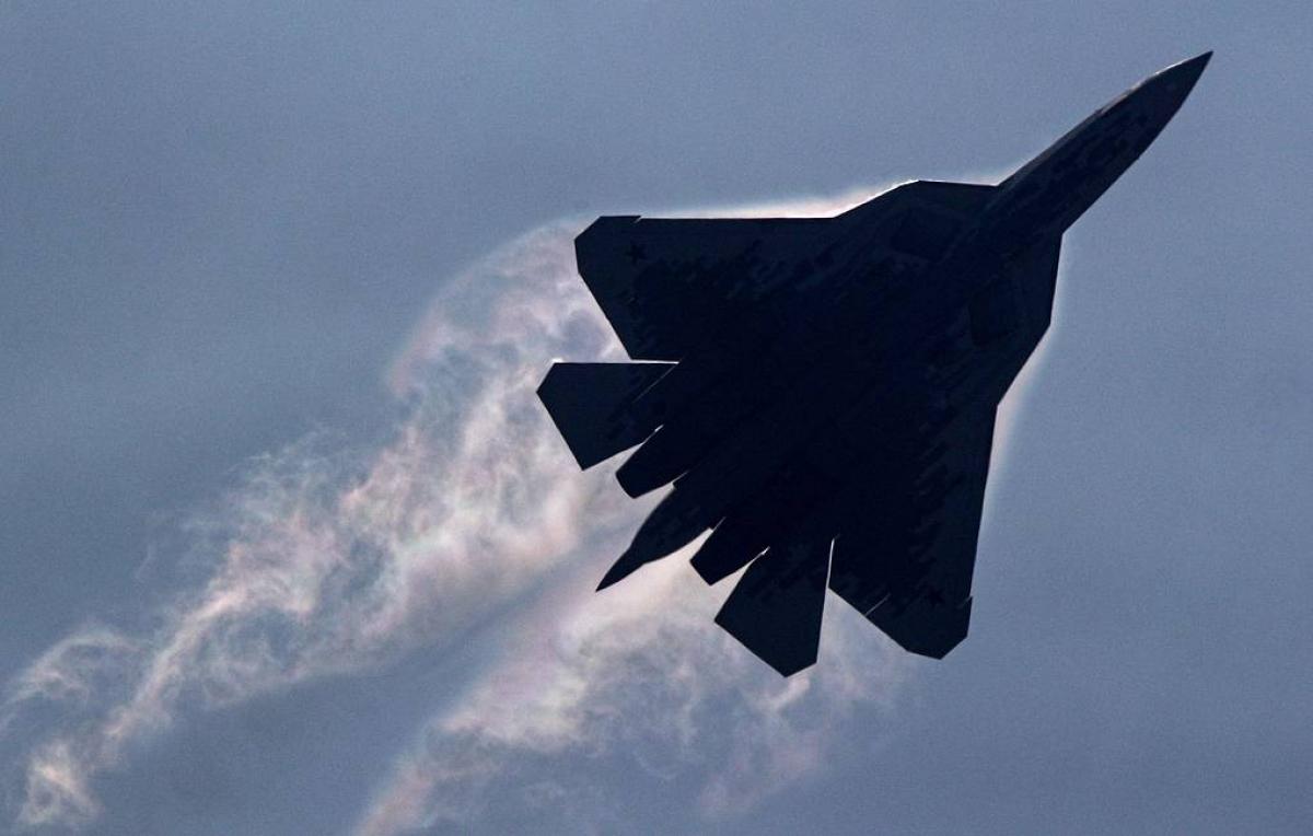Tiêm kích thế hệ thứ 5 Su-57. Ảnh: TASS