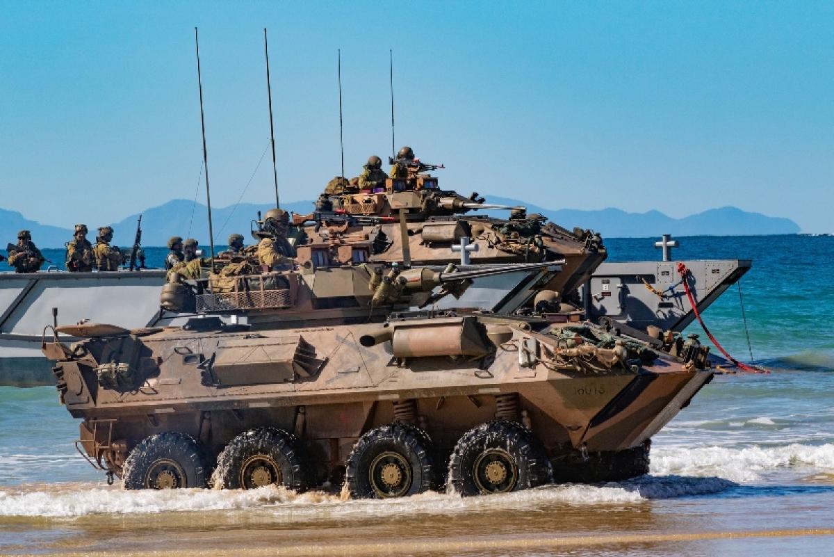 Các lực lượng tham gia nội dung đổ bộ trong cuộc tập trận Talisman Sabre năm 2019. Ảnh: Army Technology