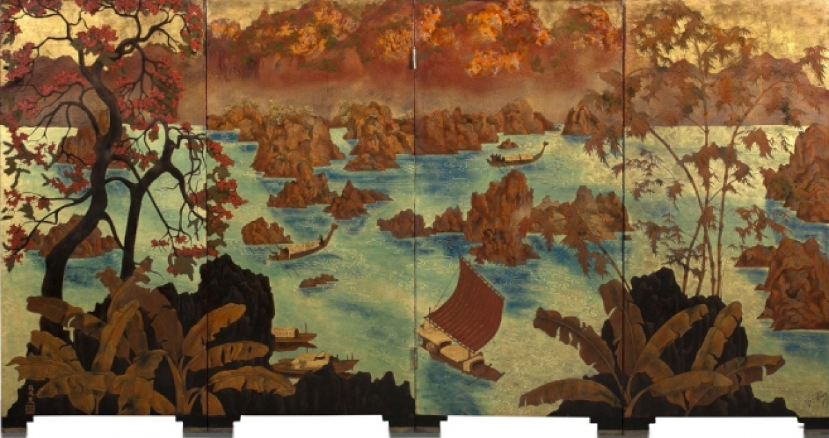 A paintingtitled Paysage Aux Jonques, also known as Thác bờ, by Pham Hau issold forover US$1 millionat French auction.