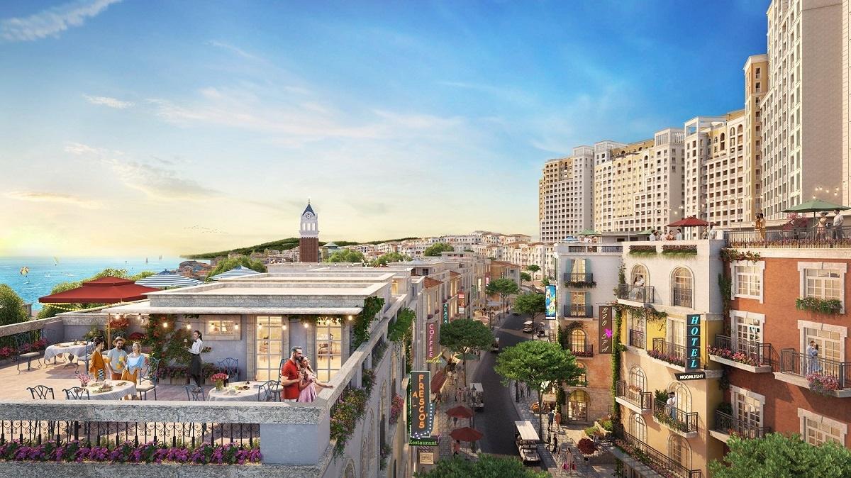 """The Center hưởng lợi từ vị trí """"tâm mạch"""" của thị trấn Địa Trung Hải Nam Phú Quốc"""