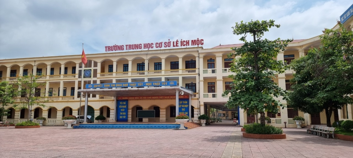 Trường THCS Lê Ích Mộc được chọn làm hội đồng thi dự phòng tại huyện Thủy Nguyên.