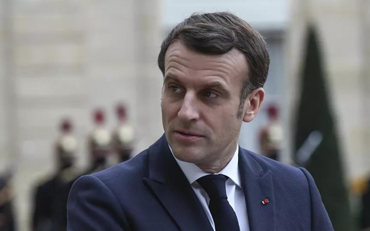 Tổng thống Pháp Macron. Ảnh: AP.