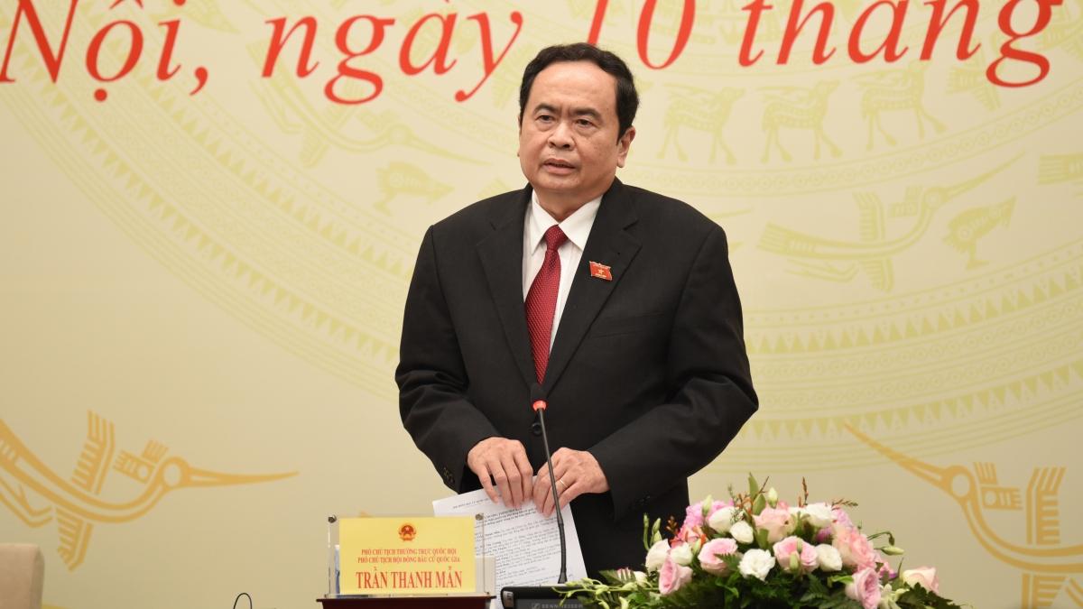 Ông Trần Thanh Mẫn - Ủy viên Bộ Chính trị, Phó Chủ tịch Thường trực Quốc hội, Phó Chủ tịch Thường trực HĐBCQG