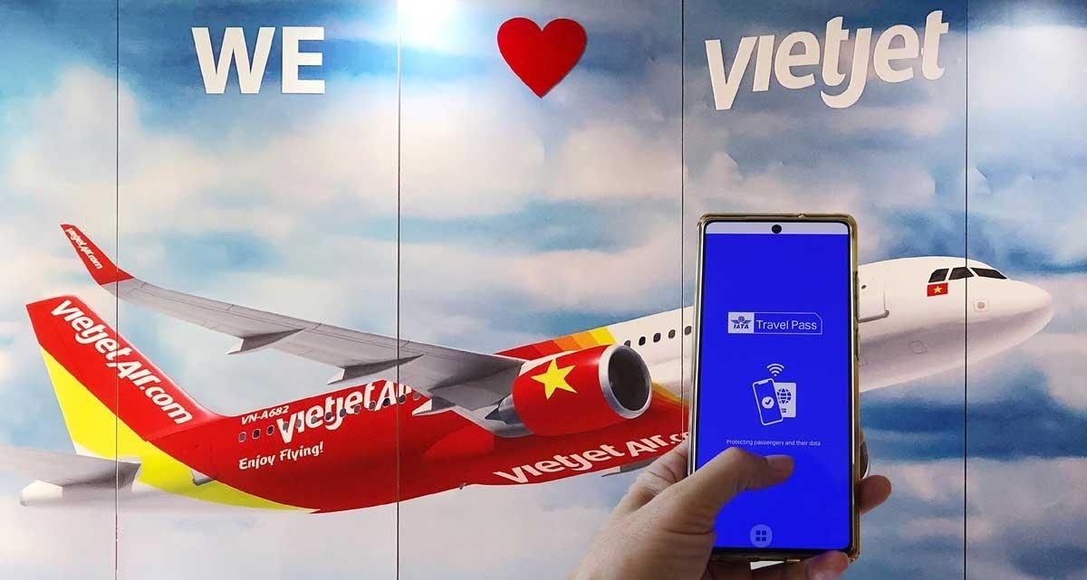 Vietjet là 1 trong những hãng hàng không tiên phong thử nghiệm IATA Travel Pass. Ảnh: Đ.Minh.