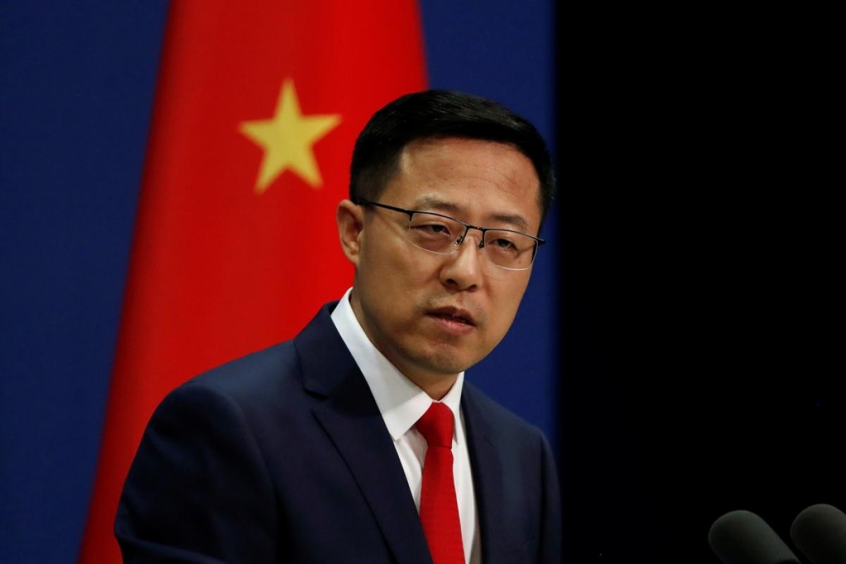 Người phát ngôn Bộ Ngoại giao Trung Quốc Triệu Lập Kiên. (Ảnh: Reuters)