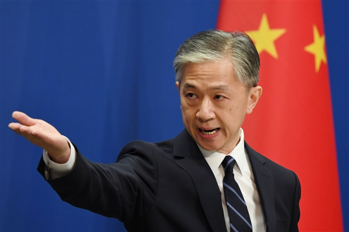 Người phát ngôn Bộ Ngoại giao Trung Quốc Uông Văn Bân. (Ảnh: Getty)