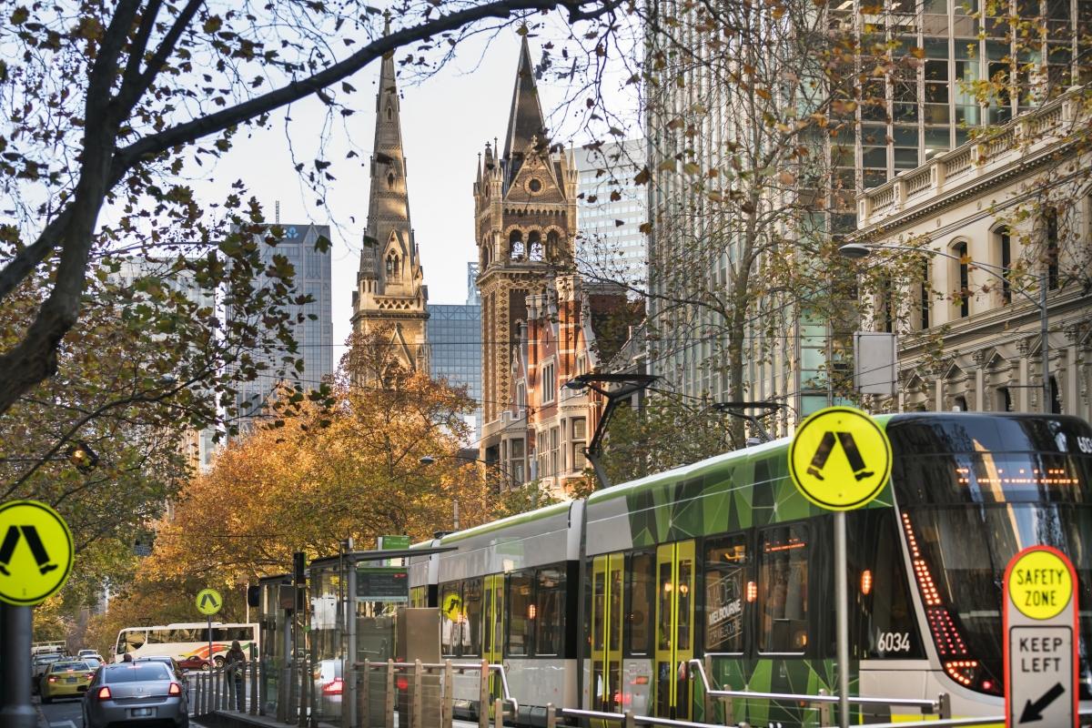 Trung tâm thành phố Melbourne thuộc bang Victoria. Nguồn: Chính quyền bang Victoria.