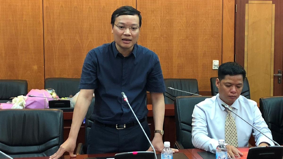Ông Trương Hải Long (đứng phát biểu)