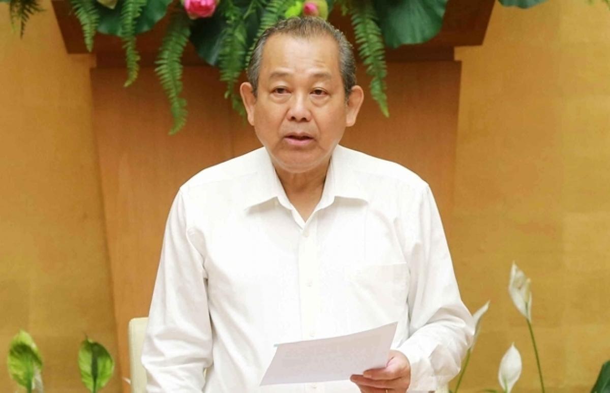 Phó Thủ tướng Trương Hoà Bình yêu cầu Chủ tịch UBND tỉnh Bình Dương chịu trách nhiệm báo cáo Thủ tướng Chính phủ kết quả thực hiện trước ngày 30/8/2021. Ảnh: Thanh tra
