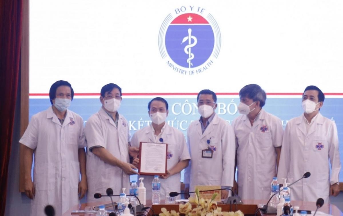 Lễ công bố Quyết định của Bộ trưởng Bộ Y tế về việc kết thúc thực hiệncách ly y tế để phòng, chống dịch COVID-19 tại Bệnh viện K.