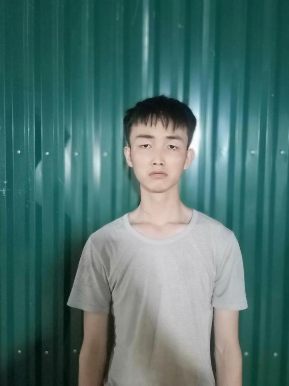 Đối tượng XuJun, người Trung Quốc nhập cảnh trái phép khi bị bắt giữ