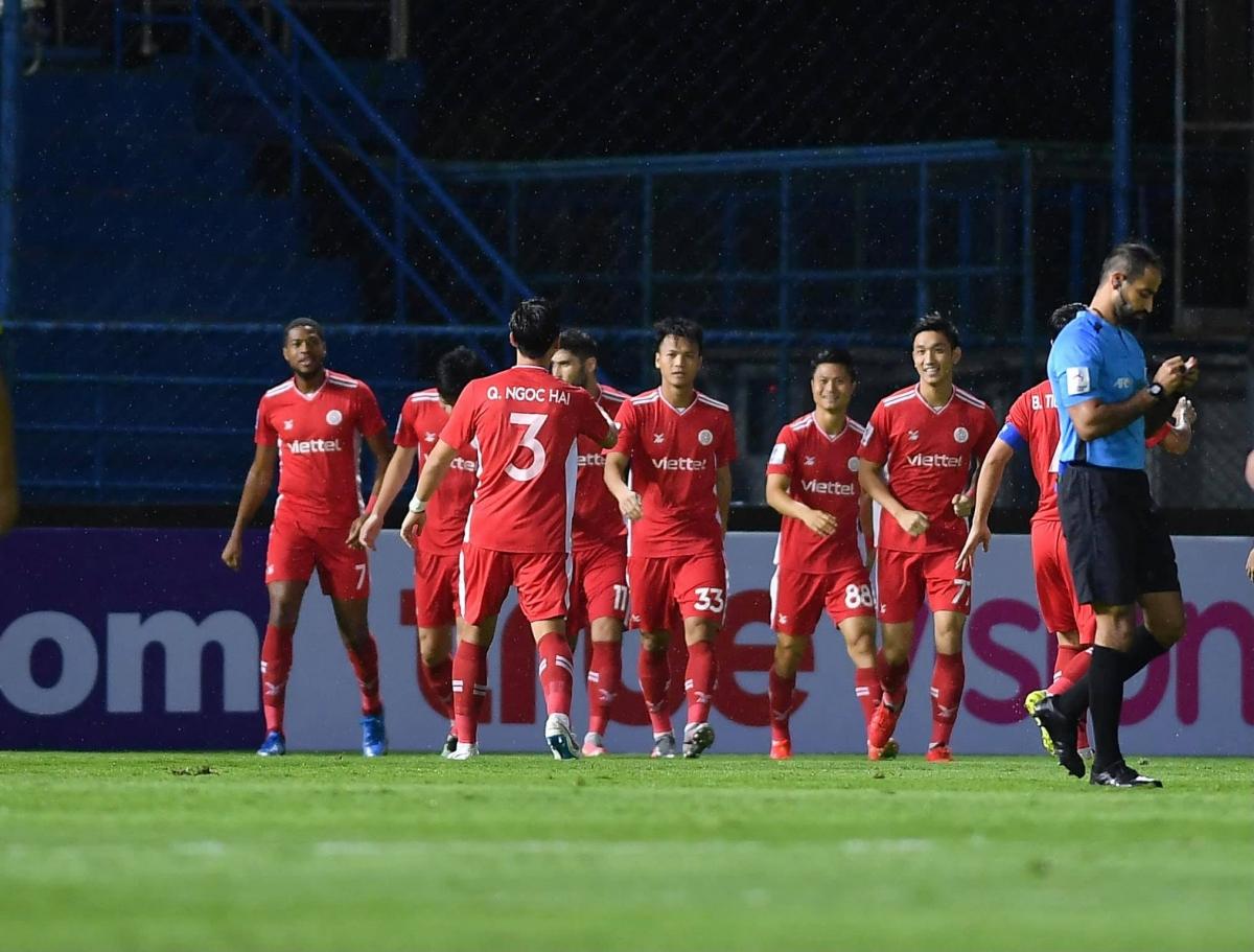Viettel có trận thắng đậm nhất lịch sử bóng đá Việt Nam ở AFC Champions League. (Ảnh: Viettel FC).