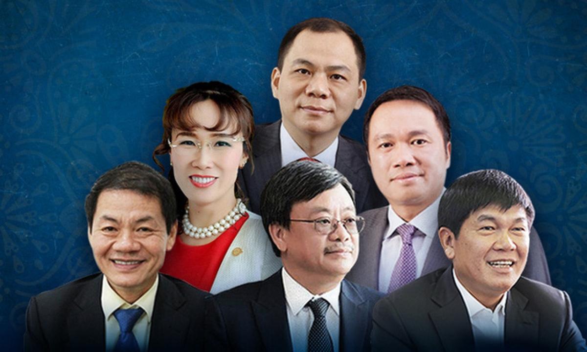 Chân dung 6 tỷ phú USD của Việt Nam trong danh sách của Forbes 2021.