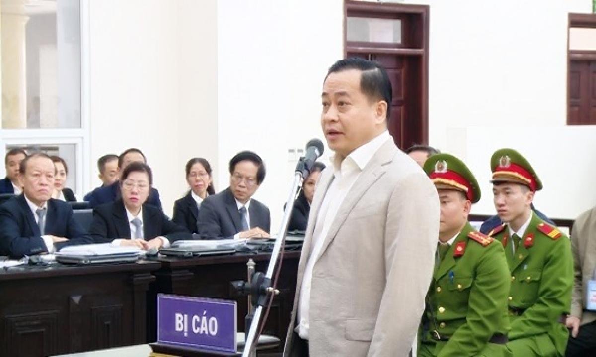 Phan Văn Anh Vũ trong một phiên xét xử (Ảnh: Hùng Anh)