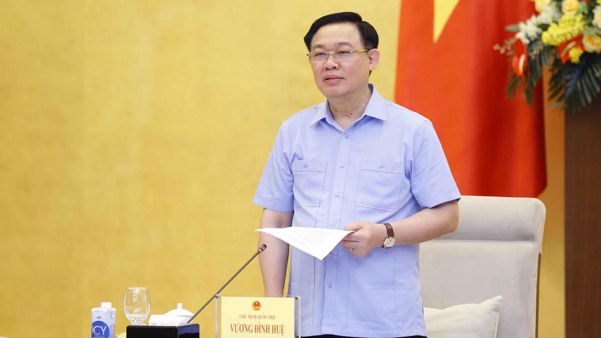 Chủ tịch Quốc hội Vương Đình Huệ. Ảnh: Doãn Tấn