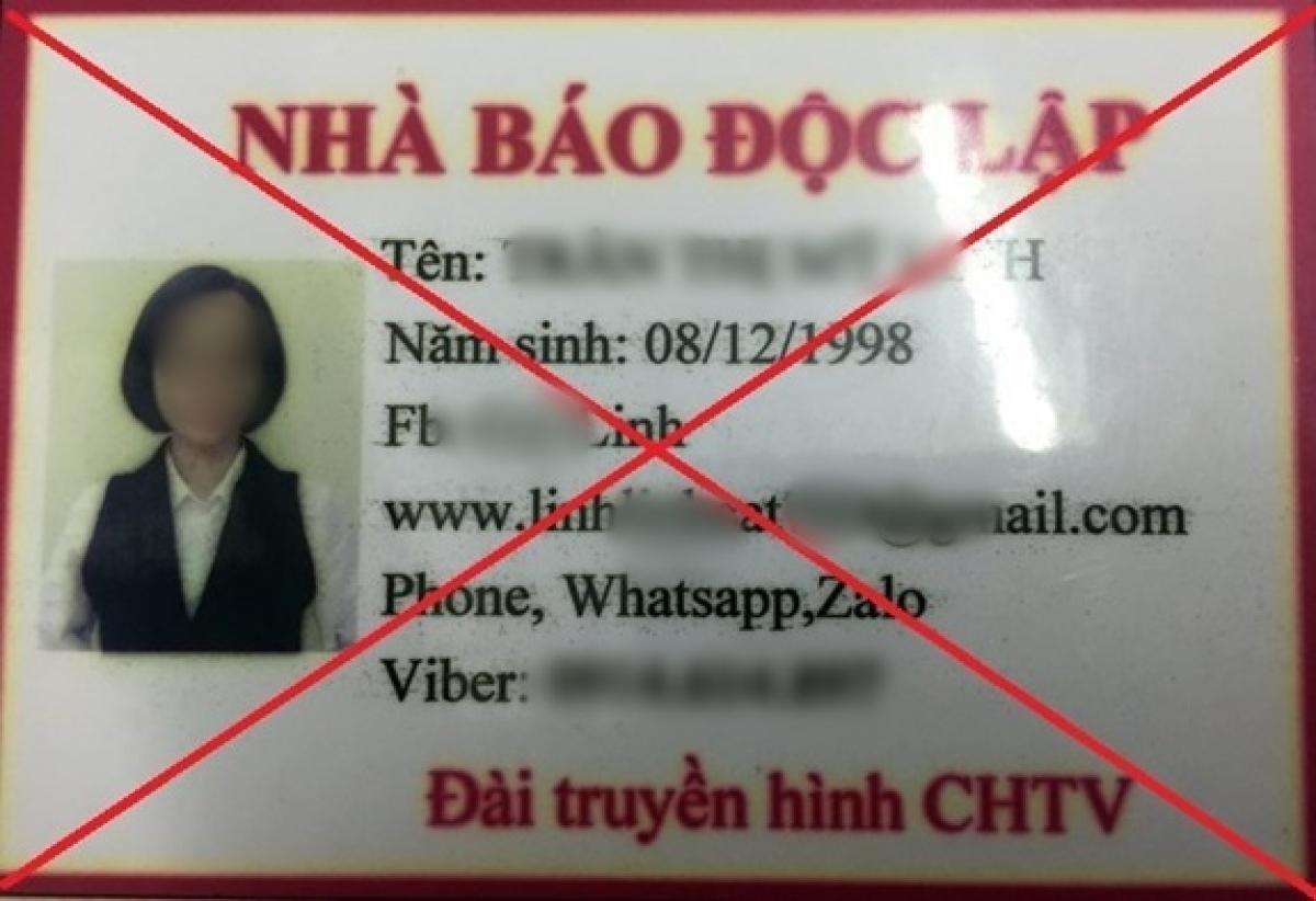 """Thẻ nhà báo """"dởm"""" mà Dũng Vova và đồng bọn tự làm"""