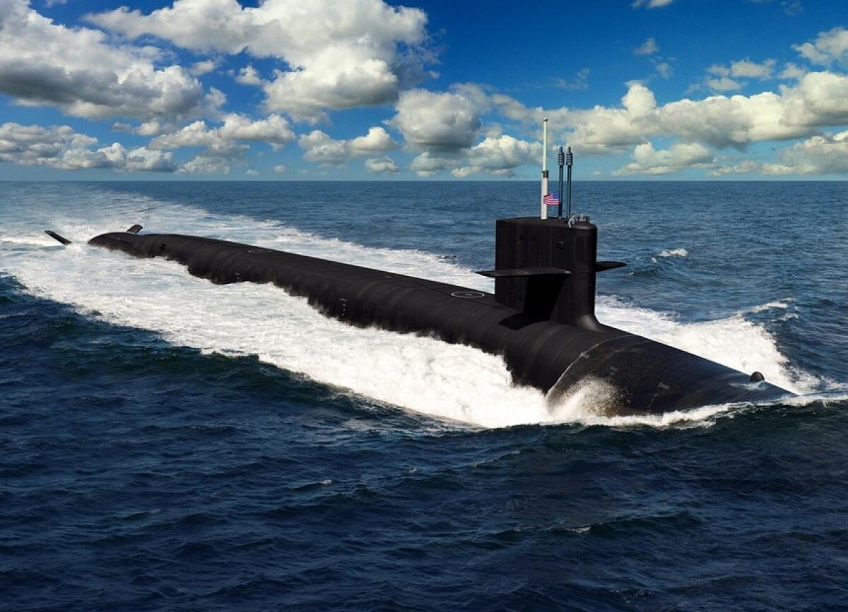 Bản đồ họa thiết kế của tàu ngầm hạt nhân chiến lược lớp Columbia. Ảnh:Hải quân Mỹ.