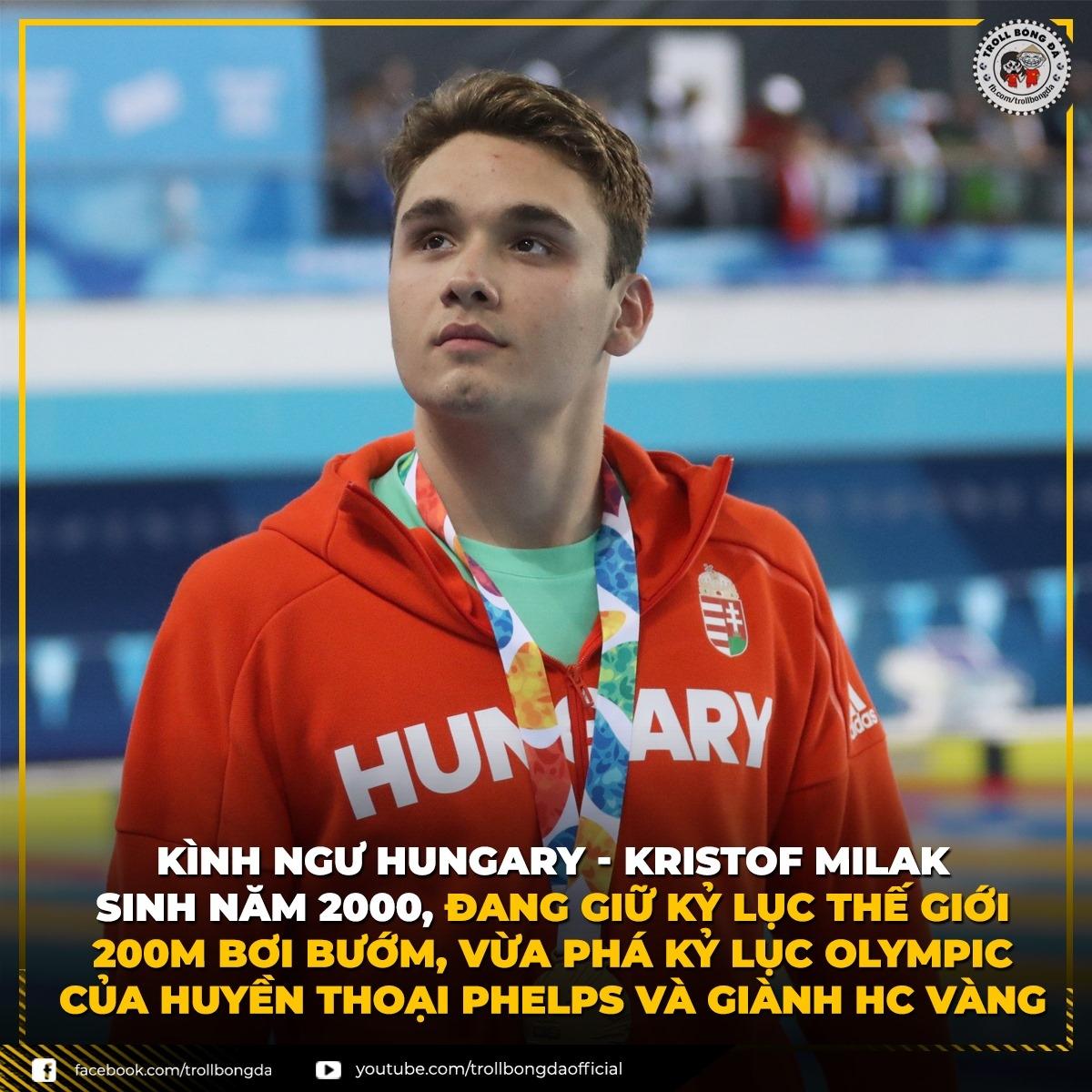 VĐV Hungary phá kỷ lục Olympic củaMichael Phelps (Ảnh: Troll bóng đá).
