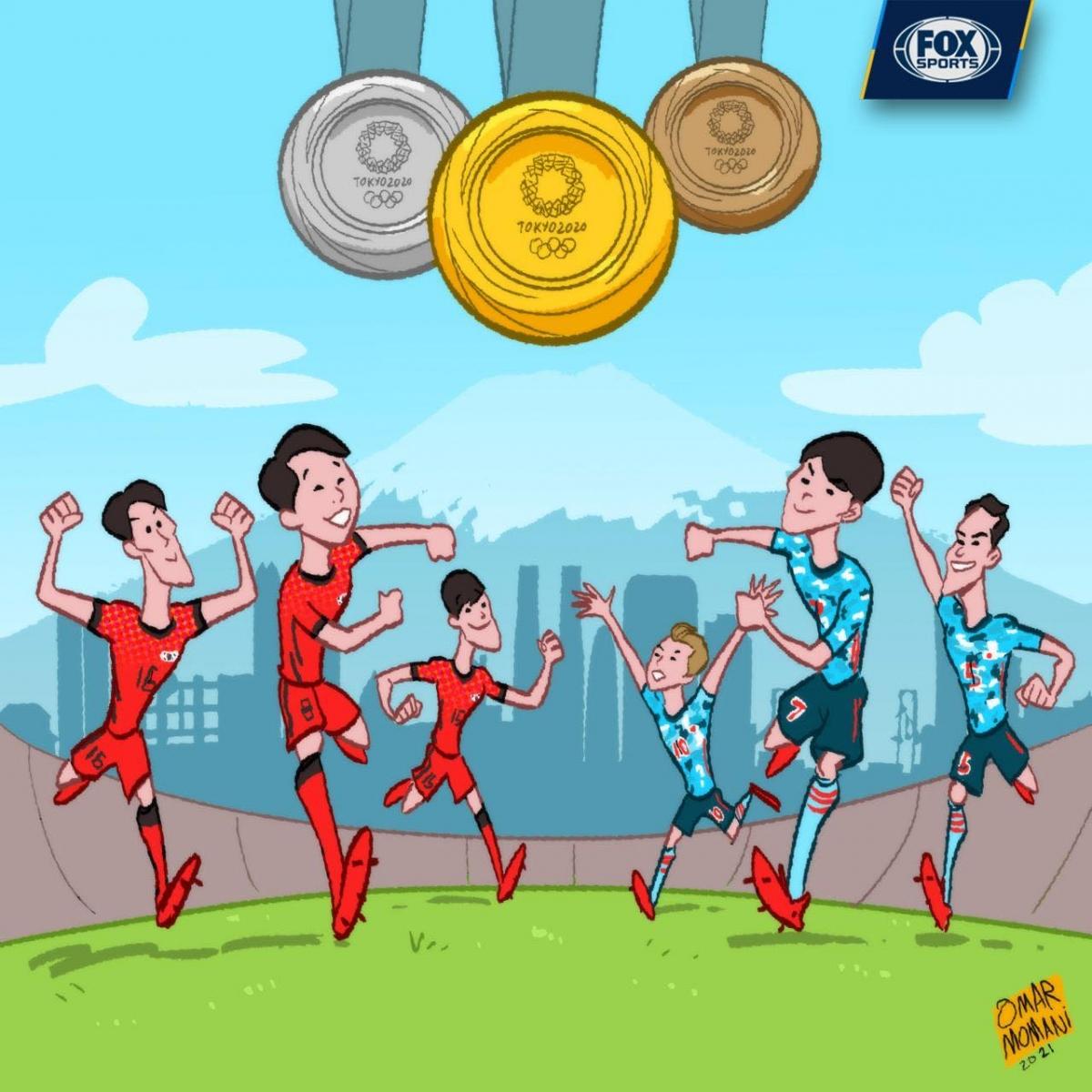 Hàn Quốc và Nhật Bản sẽ tiếp tục làm rạng danh bóng đá châu Á ở sân chơi Olympic? (Ảnh: Omar Momani)./.